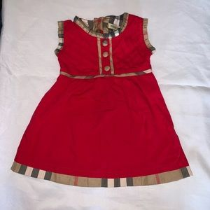 Burberry dress size large fits 18-24 months
